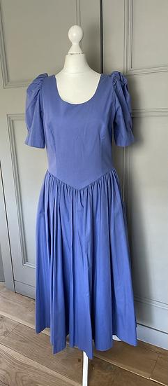 Vintage Laura Ashley cornflower blue dress Uk8