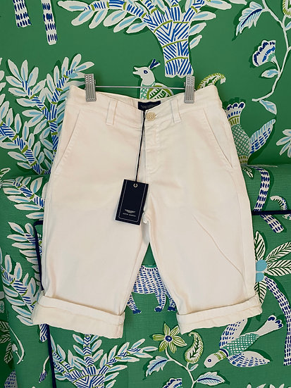 BOYS size 6yrs Aston Martin white shorts