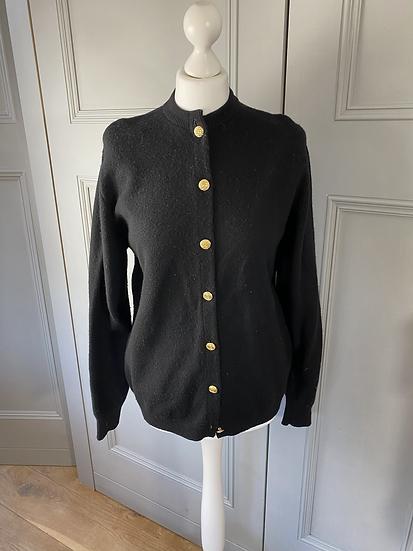 Vintage Pringle black wool cardigan. M/L
