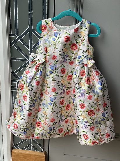 Floral monsoon party dress (2-3 years)