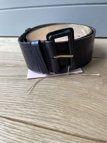 Boden navy leather belt size small