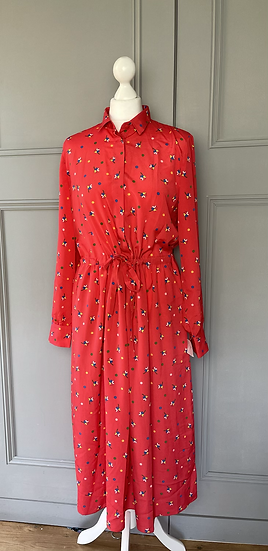 BNWT  Chinti and Parker red floral dress UK 10