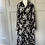 Thumbnail: French vintage black jersey dress with collar. Uk12