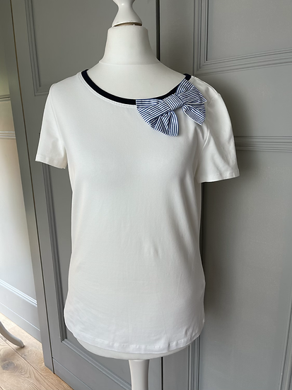 Kate spade New York T shirt with bow UK S