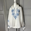 Thumbnail: Vintage white top with blue embroidery UK10-12