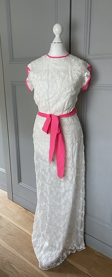 Brand New Libélula white floral embroidered dress Uk 6-10 rrp £540