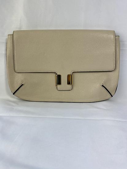 Chloe cream leather clutch