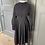 Thumbnail: Vintage cotton dress navy/purple with white polka dot. Uk10/12
