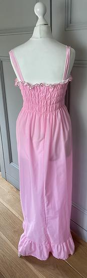 Vintag Girls pink maxi dress age 10-14