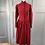 Thumbnail: Vintage Laura Ashley red needlecord Victorian style dress UK8/10
