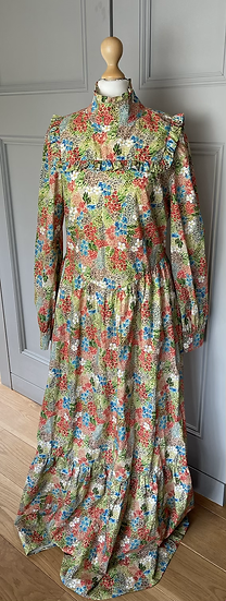 NEW Meadows multi coloured  floral maxi dress UK 12
