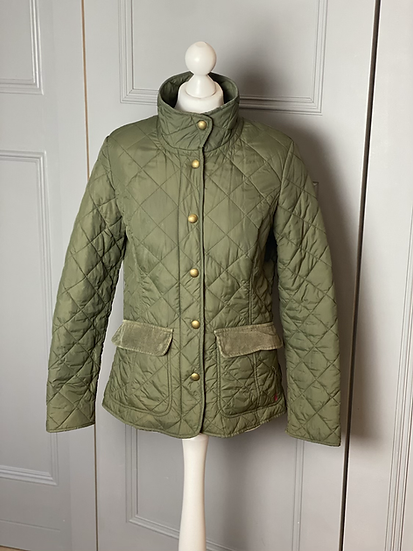 Joules green quilted country jacket 10/12