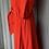 Thumbnail: Red H&M maxi prairie stye dress Uk10