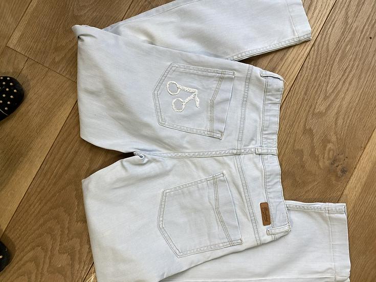 Bonpoint girls light blue jeans 12yrs