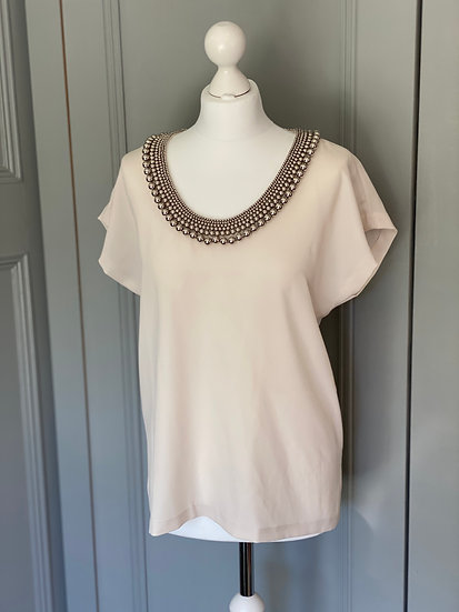 DVF statement beaded top (small Uk 10-12)