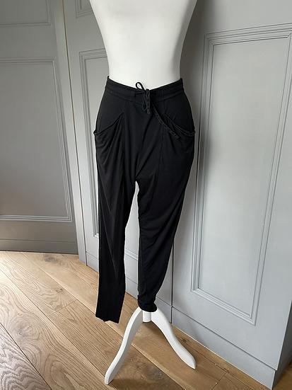 Black Helmut Lang jersey comfy trousers UK S