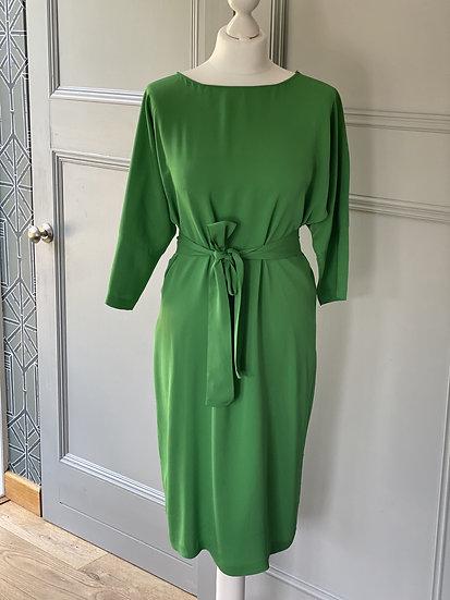 DVF silk stunning green dress (UK12)