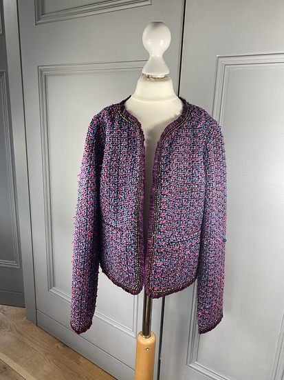JUICY couture girls purple tweed jacket 10yrs