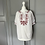 Thumbnail: Vintage white/red embroidery top UK10-12