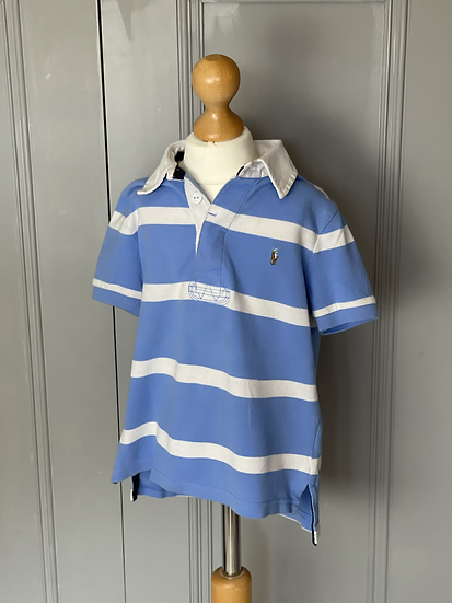Boys Polo Ralph Lauren blue and white t shirt age 4