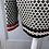 Thumbnail: Vintage Austrian cream/red/black cardigan with clasps. L