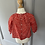 Thumbnail: Bonpoint girls red heart long sleeve top Age 18months