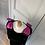 Thumbnail: Vintage black stretch velvet dress with oversized bows. Uk10-12