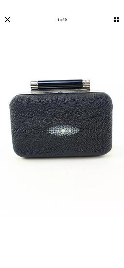 DVF DIANE VON FURSTENBERG Tonda Stingray Mini Clutch Box Bag