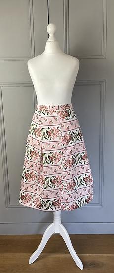 Oasis pink floral vintage style skirt Uk 14