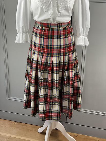 Vintage wool tartan skirt UK14/16