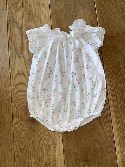 Trotters baby white base babygrow 6 months