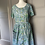 Thumbnail: Vintage green corton patterned midi dress  12-14