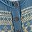 Thumbnail: Vintage blue/cream Norwegian cardigan UK8/10