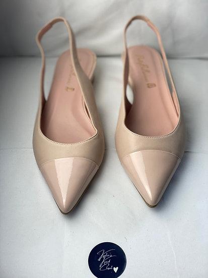 Pretty Ballerina flat sling back nude shoes (41)