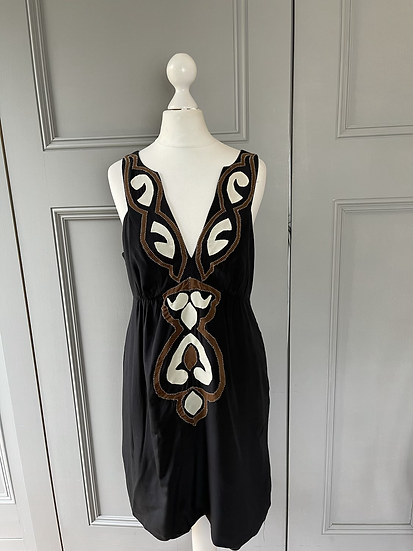 Tibi New York black/embroidery dress Uk8