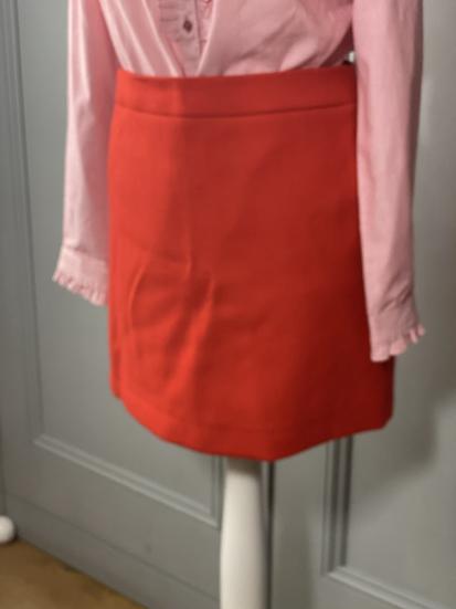 J Crew red mini wool skirt. 10/12