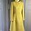 Thumbnail: Vintage Aquascutum for Harrods (70s) yellow wool coat UK10-12