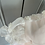 Thumbnail: Vintage baby Girls pink and white dress 3mths