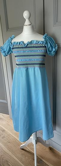 Girls blue maxi dress age dresses 10-14