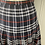 Thumbnail: Vintage Burberry wool navy/red pleated skirt UK10/12