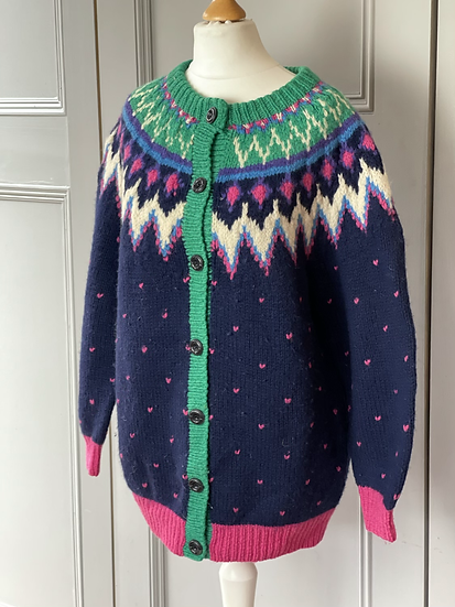 Vintage thick wool cardigan UK 12-14