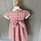 Thumbnail: Girls pink Rachel Riley smocked dress age 2
