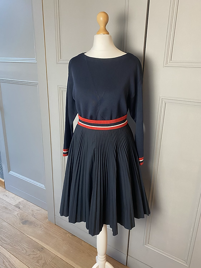Prada skirt and top set with red/white detailing. Uk10/12