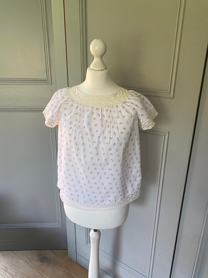 Bonpoint girls cotton ditsy top 10yrs