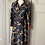 Thumbnail: Zara (new no tags) silky navy equestrian dress. Large