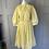 Thumbnail: Vintage yellow and white stripes cotton midi dress UK12