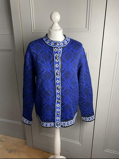 Vintage LL Bean Norwegian wool cardigan