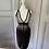 Thumbnail: Herve Leger black/grey bandage dress (Small)