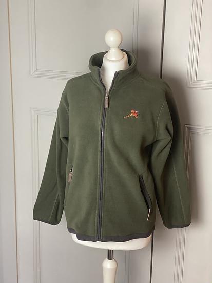Green country fleece jacket with embroidery. Uk8-12
