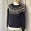 Thumbnail: Jack Wills navy/white wool fair isle jumper UK10/12